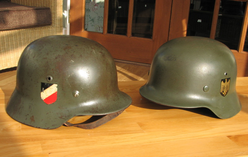 Army Navy Helmets >> My collection of German Helmets from World War Two