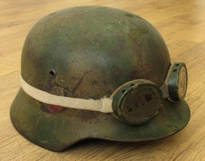 SOLD: M35 Double Decal Camo Luftwaffe Helmet