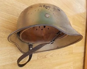 M40 Single Decal Luftwaffe Camo Helmet