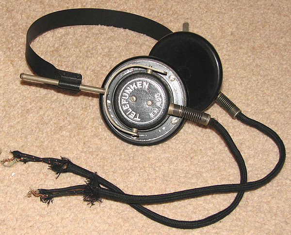 A set of headphones given to my Grandfather by a German officer.