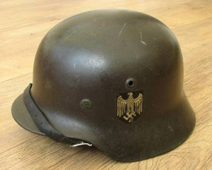 SOLD: M35 Double Decal Heer Helmet