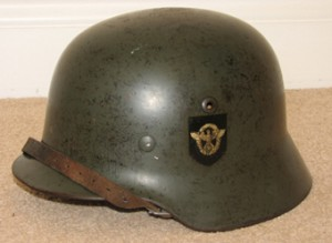 SOLD: M35 Double Decal Field Police Helmet