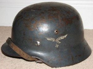 SOLD: M35 Double Decal Luftwaffe Helmet