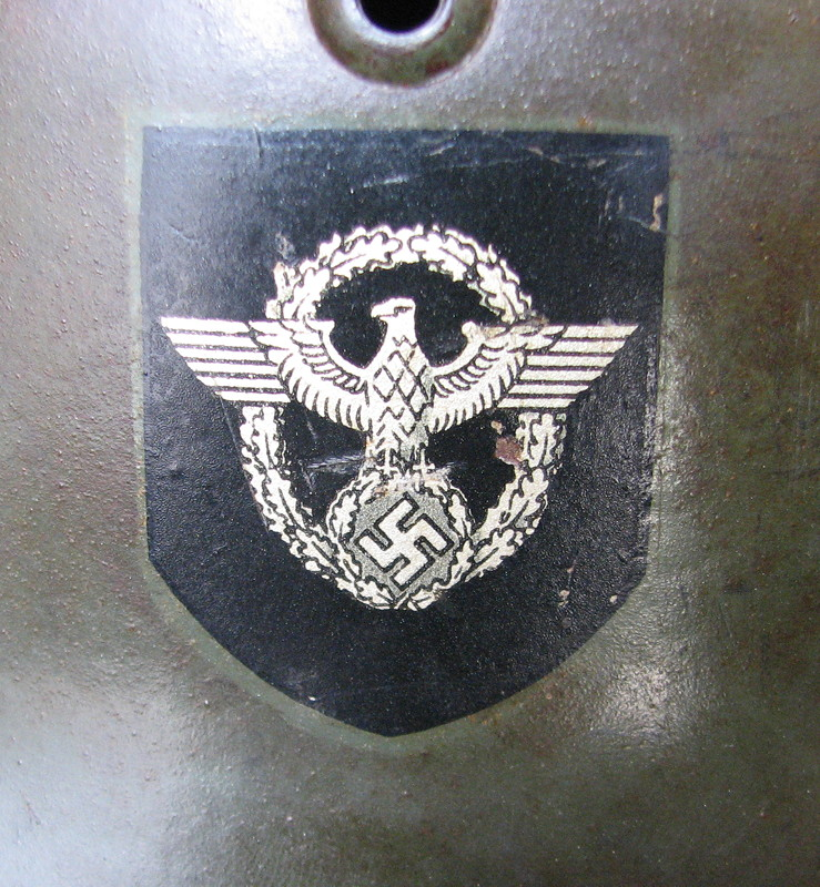 SS Field Police Helmet Decal