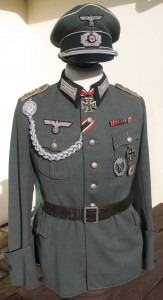 German Infantry officer's tunic and cap